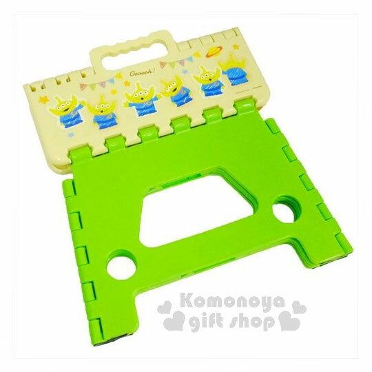 〔小禮堂〕迪士尼 玩具總動員 三眼怪 攜帶式折疊椅《黃綠.派對星球》提把設計.方便攜帶 1