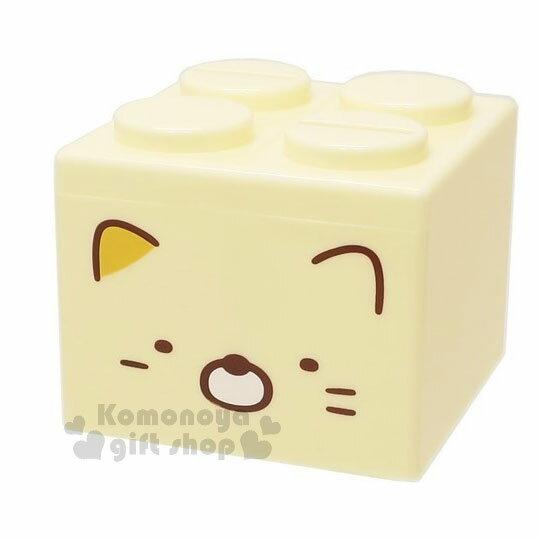 〔小禮堂〕角落生物 貓咪 積木造型存錢筒《黃.大臉》可愛招財 0