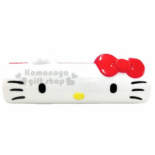 〔小禮堂〕Hello Kitty 攜帶式滾筒刷《紅.大臉.黏巴達.可水洗》隨時保持清潔乾淨