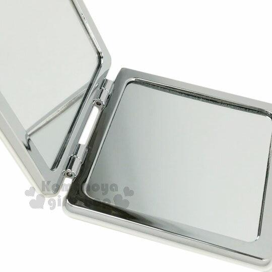 〔小禮堂〕史努比 方型隨身鏡《白.咬狗碗.派對食物.比薩.蛋糕》放大雙面鏡 2