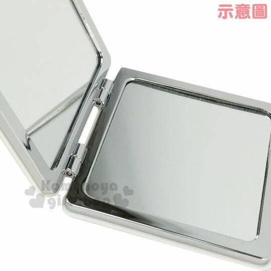 〔小禮堂〕史努比 長方型隨身鏡《藍白條紋.紅狗屋.查理布朗》放大雙面鏡 2