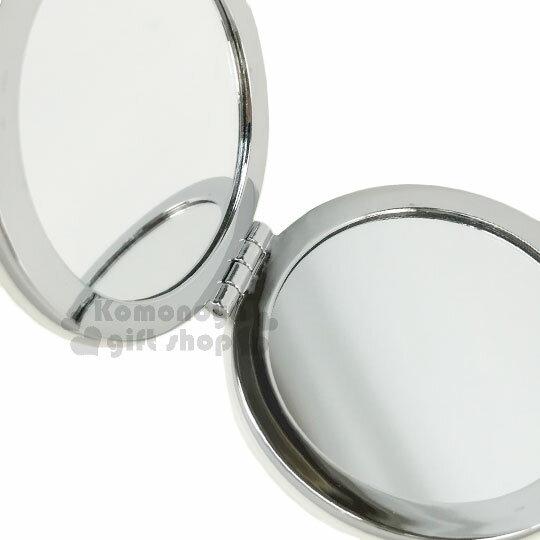 〔小禮堂〕史努比 圓型隨身鏡《白.度假.陽傘.行李箱》放大雙面鏡 2