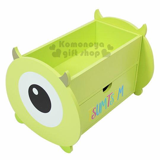 〔小禮堂〕Tsum Tsum 大眼仔 造型抽屜收納盒《 綠.大臉.長方形》 0