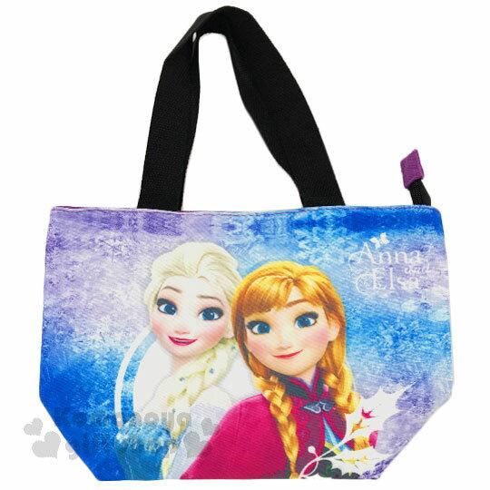 〔小禮堂〕迪士尼 冰雪奇緣 保冷便當袋~藍紫.冰雪.艾莎  安娜~保溫.保冷皆可