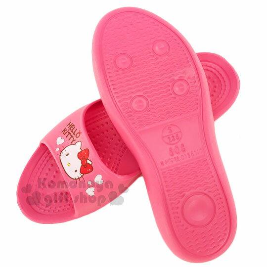 〔小禮堂〕Hello Kitty 抗滑EVA超輕拖鞋《桃紅.大臉.紅蝴蝶結.白愛心》成人尺寸 2