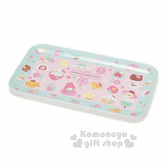 〔小禮堂〕Sanrio美耐皿盤《粉.丸子.鯛魚燒.柏餅》新春和?子系列