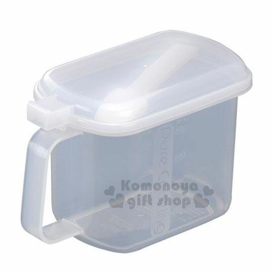 〔小禮堂〕INOMATA 日製調味料罐《橢圓.透明》附湯匙