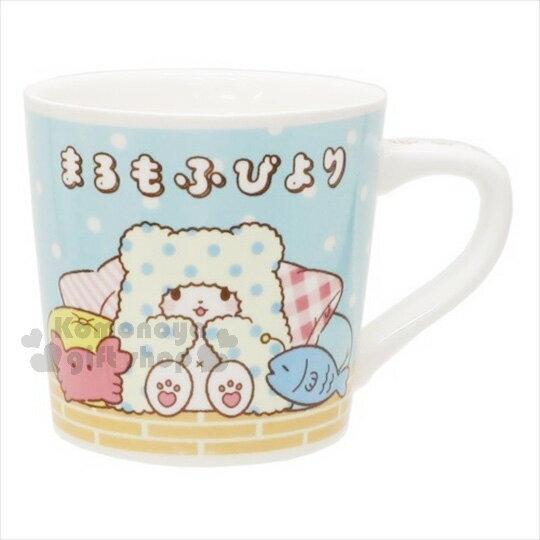 〔小禮堂〕抹布熊 陶瓷馬克杯《藍黃.沙發.螃蟹小魚》精美盒裝