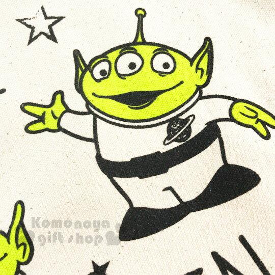 〔小禮堂〕迪士尼 玩具總動員 三眼怪 帆布側背包《橫式.米.星星》無染色胚布 1