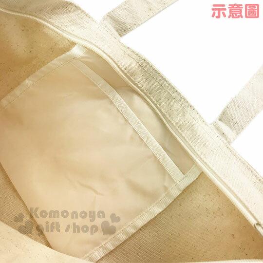 〔小禮堂〕迪士尼 米奇米妮 帆布側背包《橫式.米.摟肩.愛心》無染色胚布 2