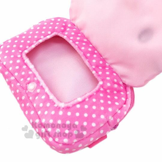 〔小禮堂〕Hello Kitty 拉鍊面紙收納包《粉.點點.蕾絲.大臉》可放濕紙巾.衛生紙 2