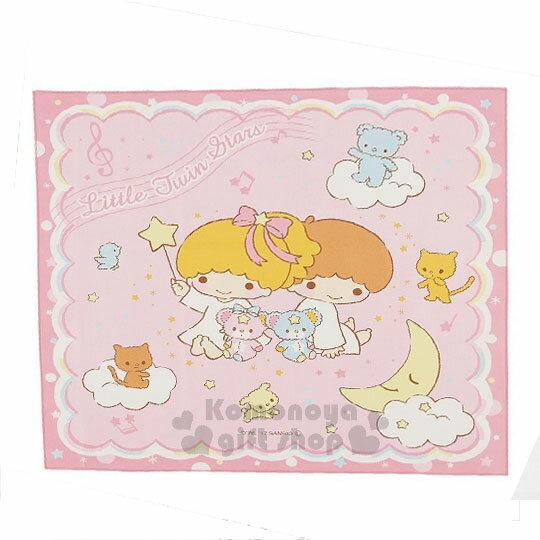 〔小禮堂〕雙子星日製便當包巾《L.粉.星空漫舞.月亮.小動物.52x52cm》純綿100%