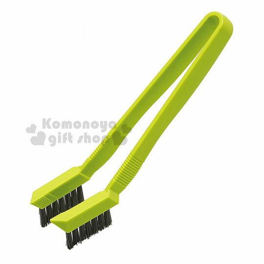 〔小禮堂〕AIWA 日製排水孔清潔刷《綠灰.夾式》浴室專用 0