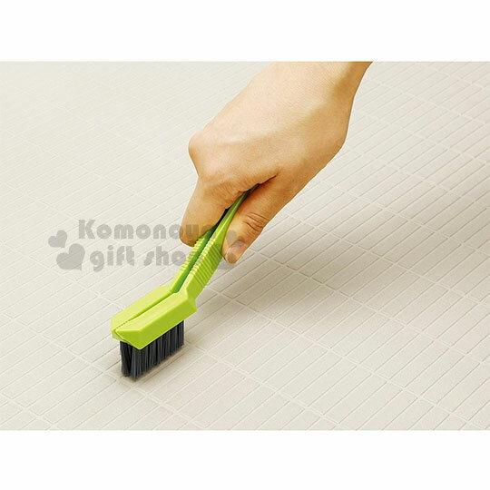 〔小禮堂〕AIWA 日製排水孔清潔刷《綠灰.夾式》浴室專用 1