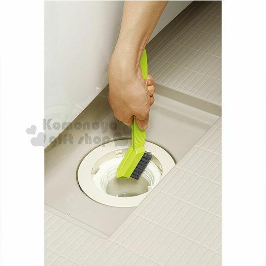 〔小禮堂〕AIWA 日製排水孔清潔刷《綠灰.夾式》浴室專用 3