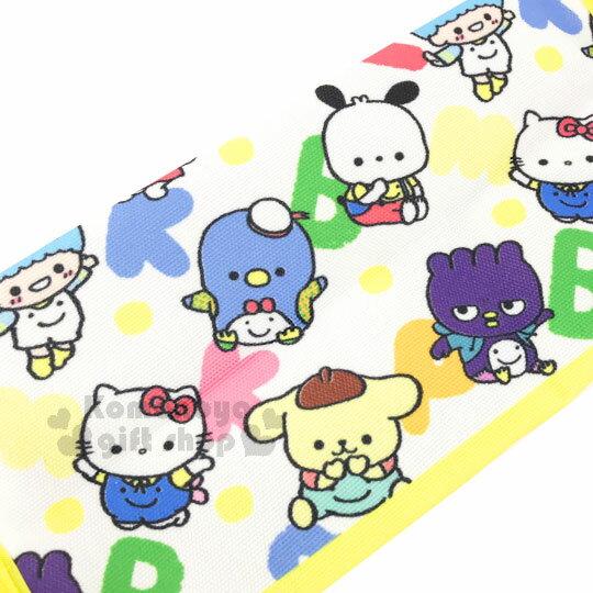 〔小禮堂〕Sanrio大集合 x Wei Wei 吊掛面紙套《黃白.直式.彩色英文.美樂蒂.雙子星.多角色》可美化居家 1