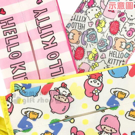 〔小禮堂〕Sanrio大集合 x Wei Wei 吊掛面紙套《黃白.直式.彩色英文.美樂蒂.雙子星.多角色》可美化居家 5