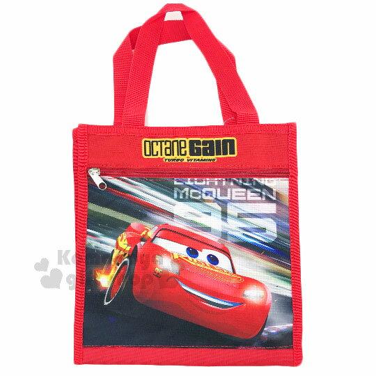 〔小禮堂〕迪士尼 閃電麥坤CARS 直式手提便當袋《S.紅.95.極速飆車》方便攜帶