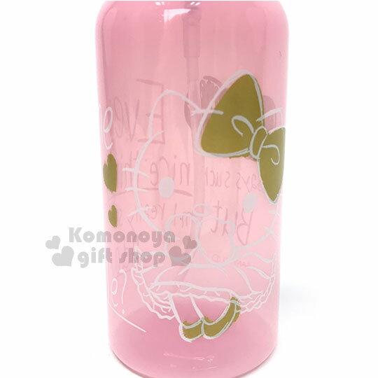 〔小禮堂〕Hello Kitty 噴霧罐《粉金.金蝴蝶結.洋裝.250ml》銅板小物 1