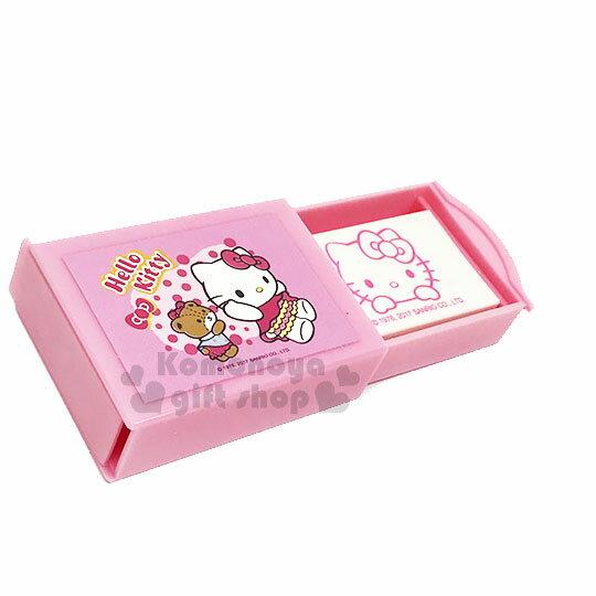 〔小禮堂〕Hello Kitty 布丁狗 魔術橡皮擦《2款.隨機出貨.粉 / Kitty.小熊.黃 / 布丁狗.小栗鼠》 1