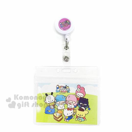 〔小禮堂〕Sanrio大集合 x Wei Wei 證件掛套《透明.粉白.多角色.野餐.Kitty.美樂蒂.雙子星》票卡套 / 證件套 0