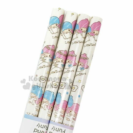〔小禮堂〕雙子星 天然竹筷組《2入.白.塗鴉風.Q版.麵包.22.5cm》銅板小物 1