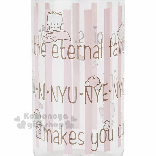 〔小禮堂〕許願貓 隨身冷水壺《粉膚.條紋.450ml》三麗鷗粉色系列 1