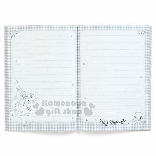 〔小禮堂〕美樂蒂 日製筆記本《A5.粉格.愛心.花邊.洋裝》童趣插畫系列 2