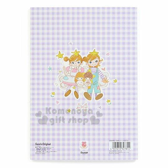 〔小禮堂〕雙子星 日製筆記本《A5.紫格.月亮.男孩女孩.星星》童趣插畫系列 1