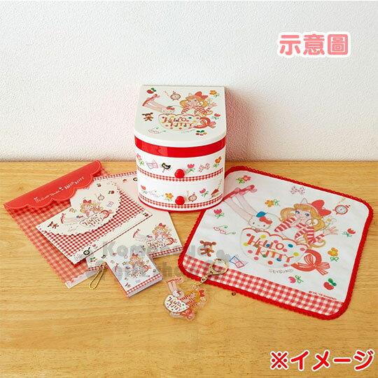 〔小禮堂﹞ Hello Kitty 日製信紙組《紅格.花邊.咖啡杯.多小物》童趣插畫系列 3