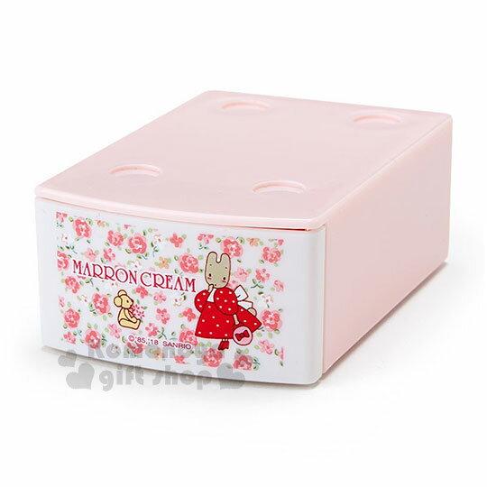 〔小禮堂〕兔媽媽迷你積木抽屜盒附便條紙《粉.玫瑰滿版》可堆疊.內含20張