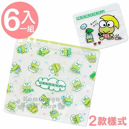 〔小禮堂〕大眼蛙 夾鏈袋《透明.彩色圓點.雨傘》2種尺寸各3個.旅行收納袋