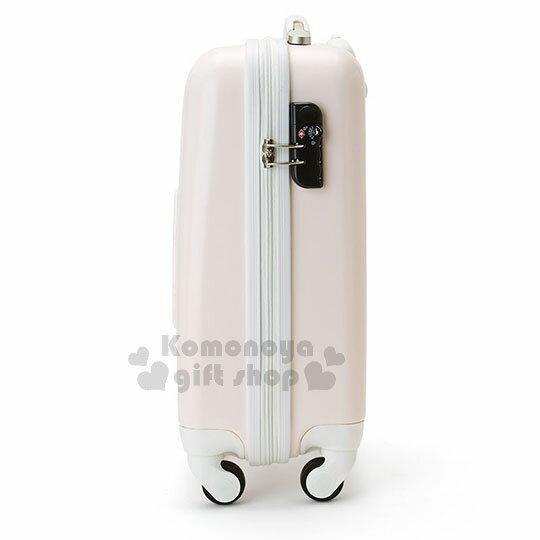 〔小禮堂〕Hello Kitty 硬殼拉桿行李箱《20吋.淡粉.大臉浮雕》登機箱.寵愛玫瑰旅行系列 2