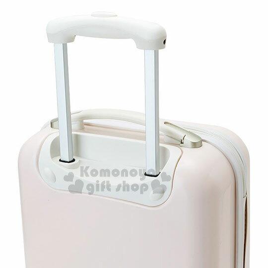〔小禮堂〕Hello Kitty 硬殼拉桿行李箱《20吋.淡粉.大臉浮雕》登機箱.寵愛玫瑰旅行系列 3