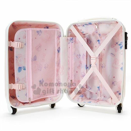 〔小禮堂〕Hello Kitty 硬殼拉桿行李箱《20吋.淡粉.大臉浮雕》登機箱.寵愛玫瑰旅行系列 5