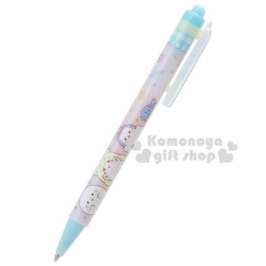 〔小禮堂〕抹布熊 日製多色原子筆《黑色墨水.粉藍.頭頂螃蟹小魚.朋友.張手》 1