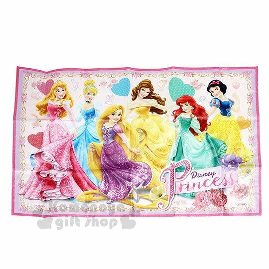 〔小禮堂〕迪士尼 公主們 野餐墊《S.粉紫.多角色.玫瑰..長髮公主.小美人魚.貝兒.90x60cm》單人用尺寸設計