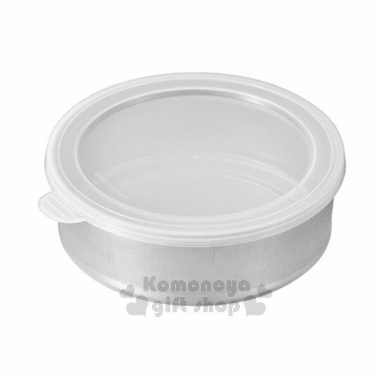 〔小禮堂〕日製不鏽鋼密封罐《M.不鏽鋼.白透.12cm》