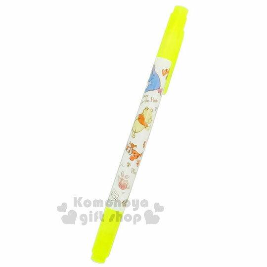 〔小禮堂〕迪士尼 小熊維尼 雙頭螢光筆《黃.好朋友.跳跳虎.小豬》重點標記