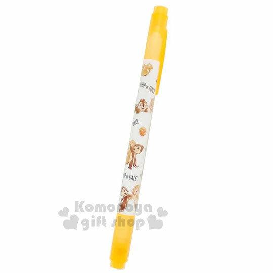〔小禮堂〕迪士尼 奇奇蒂蒂 雙頭螢光筆《橘.橡果.捧臉.跳舞》重點標記