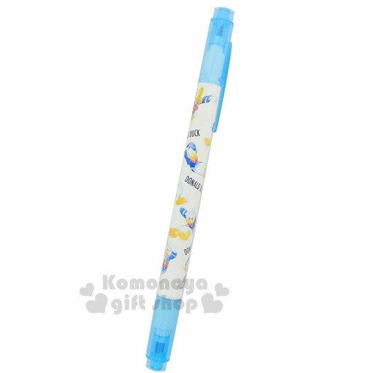〔小禮堂〕迪士尼 唐老鴨 雙頭螢光筆《藍.睡覺.生氣.歡呼》重點標記