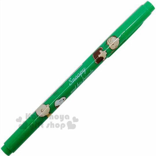 〔小禮堂〕史努比 雙頭彩色筆《綠.好朋友.露西.糊塗塔客》重點標記