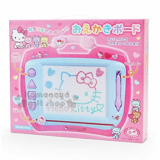 〔小禮堂〕Hello Kitty 可提式磁性畫板《粉藍.彩虹熊.盒裝》塗鴉板.繪圖板.寫字板