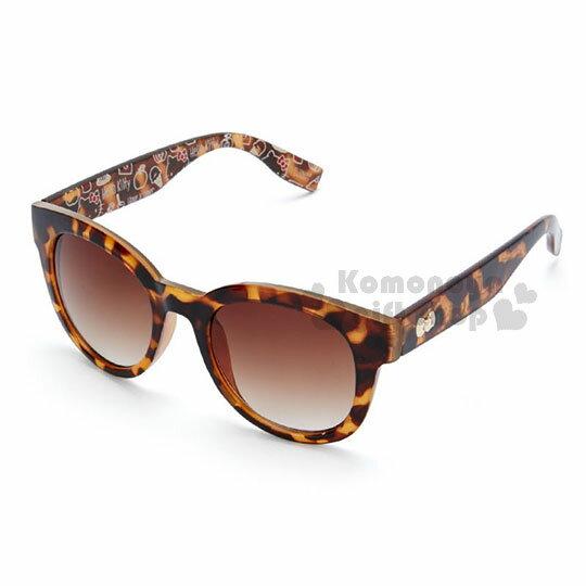 〔小禮堂〕HelloKitty成人造型太陽眼鏡《咖啡.琥珀.滿版.大臉》抗UV.防曬.墨鏡