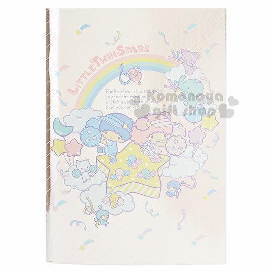 〔小禮堂〕雙子星 雷射感筆記本~A5.粉.條紋.彩虹.星星~橫條紋內頁.彩虹啦啦隊系列