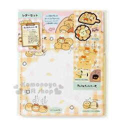 〔小禮堂〕Sanrio 大集合 日製信紙組《黃.格紋.大臉.多角色》附貼紙.黃金麵包屋系列