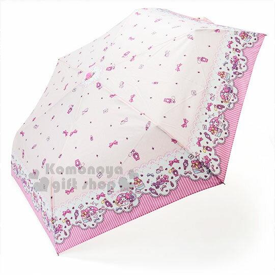 〔小禮堂〕美樂蒂 雨陽折疊傘~粉.化妝品.派對~折傘.晴雨兩用