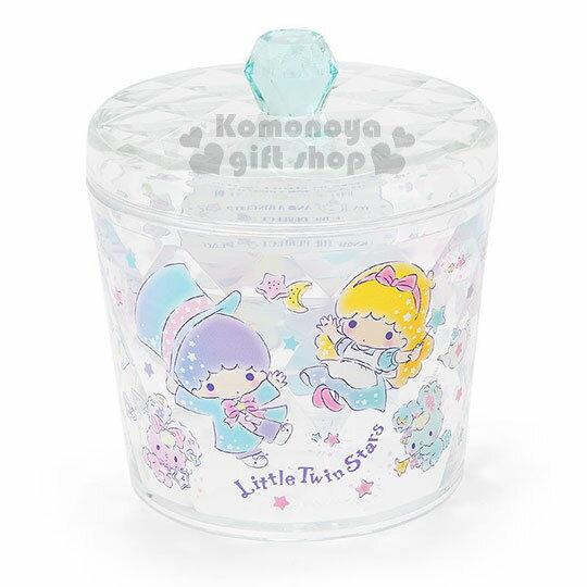 〔小禮堂〕雙子星菱格壓克力飾品罐《綠.星星.魔術師.圓型》收納罐.置物罐