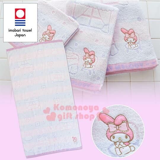 〔小禮堂〕美樂蒂 日製純棉大浴巾《粉紫.橫條.甜點.窗戶》今治毛巾 0