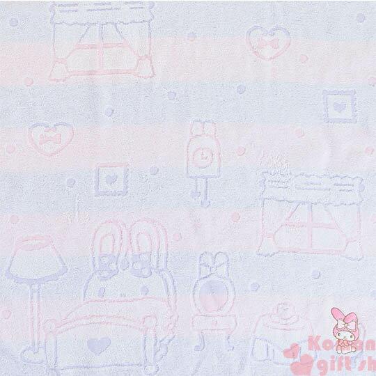 〔小禮堂〕美樂蒂 日製純棉大浴巾《粉紫.橫條.甜點.窗戶》今治毛巾 1
